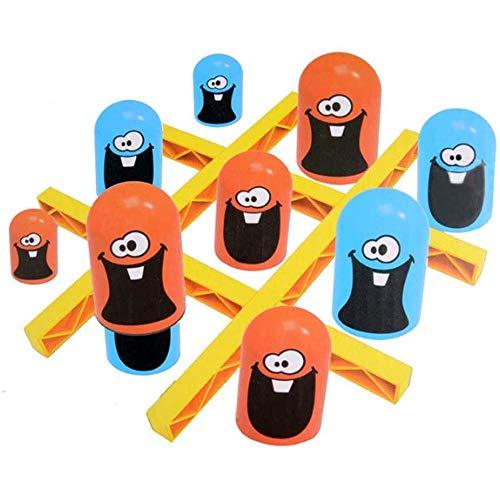 (Big Eat Small) Jeu de Tic-tac-Toe, Jeu de Gobble Gobblers - Puzzle pour enfants Big Eat Small Three Serial Game, Jouets éducatifs interactifs parent-enfant