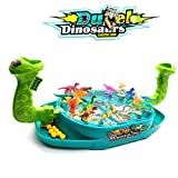 Pualsol Dinosaur Shooting Toys for Kids,Marbles Shooting Battle Games,2 Player Desktop Sport Catapult Board Game for Funny Family Party Night,Ages 3+
