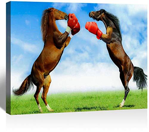 SSKJTC Lienzo de pared estilo moderno para sala de estar, dormitorio, caballo,...