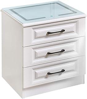 Amazon Com Nightstands White Glass Nightstands Bedroom Furniture Home Kitchen