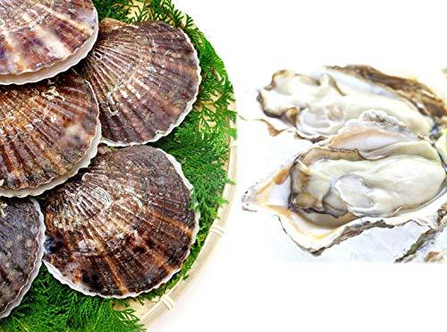 【北海道サロマ湖産 殻付き生2年牡蠣1kg約8個・貝付き活ほたて中サイズ10枚】『ザ!鉄腕!DASH!!日本テレビ』でも取り上げられた北海道サロマ湖産の生牡蠣と、今では希少な殻付き4年貝活ほたてのセット。時にはギフトに、時には自分へのご褒美をちょっと贅沢に