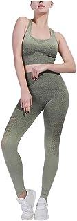 $30 » RUIVE Yoga Leggings Vest Set for Womens Ankle Length Pants Sleeveless Tops Girls Sports Running