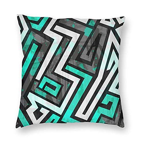 Städtisches Blau Maze mit Dekokissen Fall-Abdeckung Kissenbezügen für Haus Dekorative Sofa Schlafzimmer Terrasse Auto-Büro-Platz Pillowcase