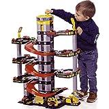 H-Molto Parkgarage mit 7 Ebenen, Tankstelle und Hubschrauberlandeplatz, 65x93 cm: Spielzeug Auto Garage Spielstrasse Spielzeugauto Parkhaus -