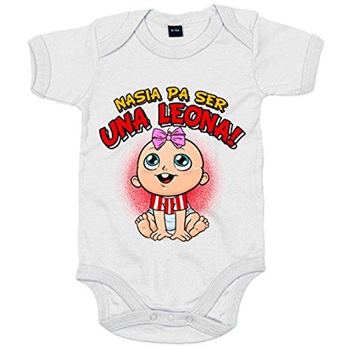 Body bebé nacida para ser una Leona Athletic Bilbao fútbol - Blanco, 6-12 meses