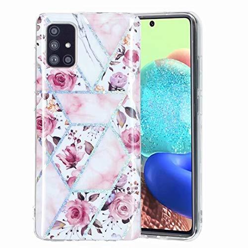 Carcasa para Samsung Galaxy A52 5G, diseño de esquinas reforzadas, de gel ligero, de silicona suave, de poliuretano termoplástico (TPU), diseño floral