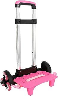 Carrello per zaino - Carrello con ruote Carrello per carrello pieghevole per carrello in alluminio (rosa, 6 ruote)