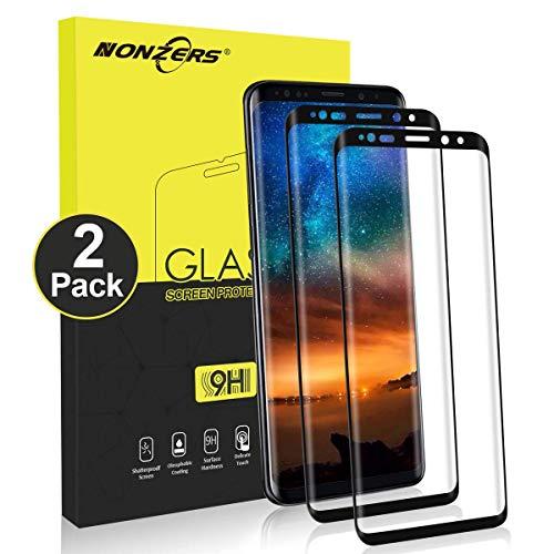 NONZERS 2 Stück Panzerglasfolie für Samsung Galaxy S9 Plus, 9H Härte Panzerglas Schutzfolie, 3D Vollständige Abdeckung, Ultra-klar, Anti-Kratzen, Anti-Bläschen, Panzerglas für Samsung Galaxy S9 Plus