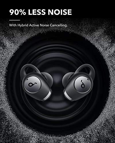 Soundcore de Anker Life A2 NC Auriculares Inalámbricos Bluetooth con Cancelación de Ruido Multimodo, Auriculares Bluetooth ANC con 6 Micrófonos, Llamadas Nítidas, 35 h Reproducción,Graves Intensos