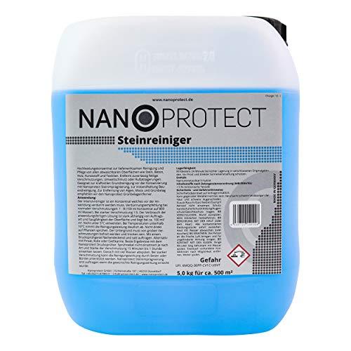 Nanoprotect Steinreiniger Konzentrat   5 kg für ca. 500 m²   Intensivreiniger für Außenanlagen   Ideal für Haus, Hof und Garten