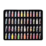 SSGLOVELIN Nuevo 48pcs / Set del Arte del Clavo del Polvo del Brillo del Pigmento Set 48 Colores DIY manicura Decoraciones Guapa (Color : Multi)