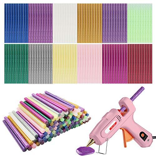 Colla calda,12 stick di Glitter Multicolor Hot Melt Colla Sticks,Bastoncini appiccicosi per colla per pistola hot melt art Craft 7mm * 100mm (120 pezzi)