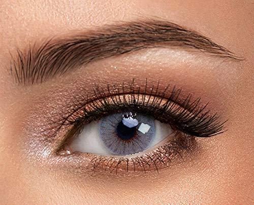 1 Paar graue Kontaktlinsen von Solotica - Hochwertige Premium Augenfarben ändernde Kontaktlinsen - Tragedauer bis zu 1 Jahr - Der natürlich aussehende Weg der Augenfarbenänderung - Hidrocor Rio Parati