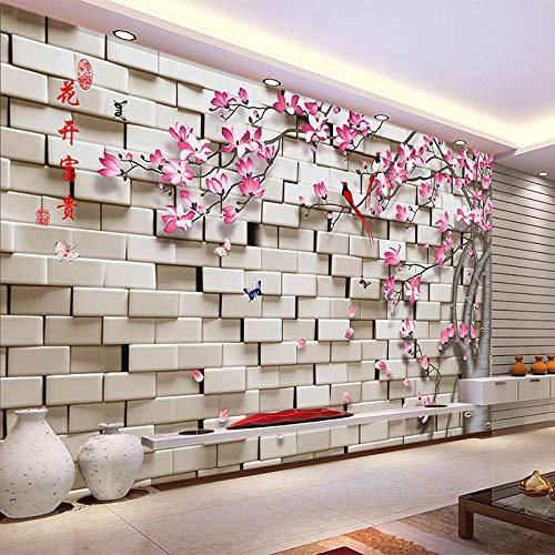 Lyqyzw Cuadros Geométricos Estereoscópicos 3D De Cualquier Tamaño Personalizados Árbol De Flores Sala De Estar Sofá Tv Fondo Pared Mural Decoración Papel Pintado Rollo 400X309Cm
