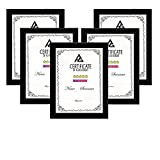 ✓DIMENSION: The multi document frames come with 5 pieces picture frame. Certificate frames for A4 documents, certificates, diplomas and photographs. ✓High definition front gives documents in good view condition and protects your certificates from scr...