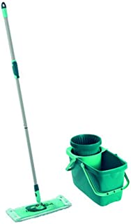 Leifheit Clean Twist Spin Mop System with Bucket and Flat Mop Head