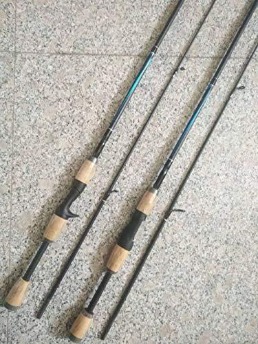 Fengyj Carbon Angelrute 1.5m/70.8in–Spinnrute –Steckrute – direkte Kraftübertragung beim Angeln auf Hecht, Zander, Dorsch, Seeforelle, Lachs,Straightshank