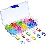 120 Piezas Marcadores de Puntos de Bloqueo Clip de Puntos de Crochet, 10 Colores