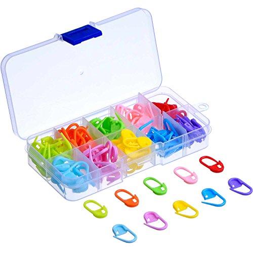 120 Stück Strick Häkeln Locking Stitch Maschenmarkierern Nadel Klip, 10 Farben