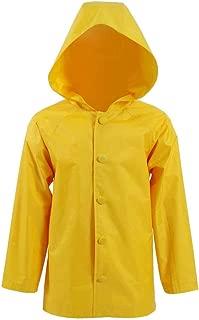 Kid's Yellow Raincoat Jacket Halloween Rainwear Cosplay Costume