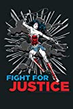 Kids DC Comics Wonder Woman 1984 Fight For Justice C2 Comic Style Premium: Notebook Planner - 6x9 inch Daily Planner Journal, To Do List Notebook, Daily Organizer, 114 Pages