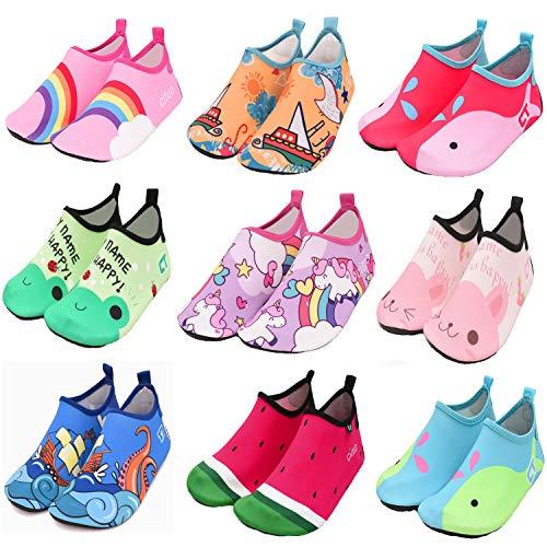 Carozoo Chaussures de natation aquatiques pour enfants jusqu'à 8 ans - Bleu - Whale Green Light Blue, 2-3 ans