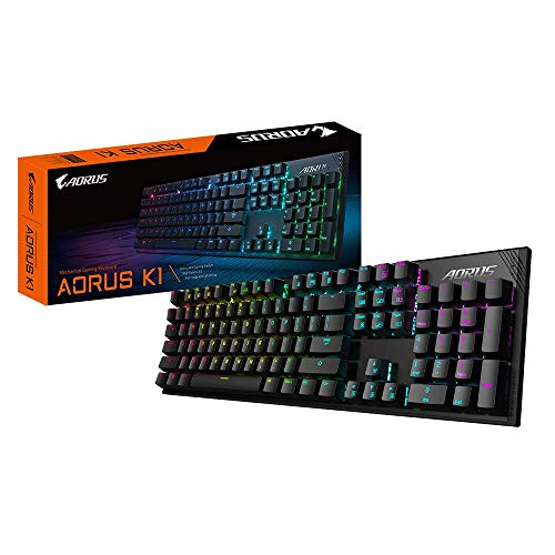 Gigabyte AORUS GK-AORUS K1 (MX Cherry Red Mechanical Gaming Keyboard – Full RGB backlighting - Anti-Ghosting Capability – Braided Cable – Cable Management – Floating Key Design) (AORUS-K1)