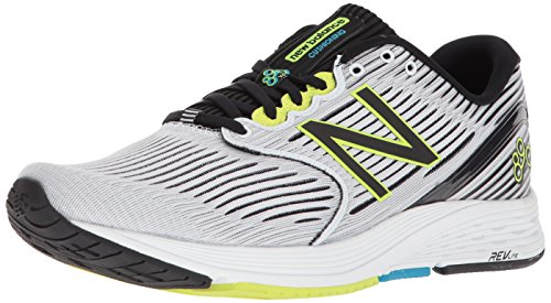 New Balance Men's 890 V6 Running Shoe, White/Black, 10.5 D US