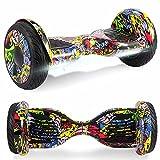 Windway Hoverboard 10'' Patinete Eléctrico Bluetooth Monopatín Scooter autobalanceado, Ruedas de Skate con luz LED, Motor Bluetooth de 700W para niños y Adultos (Hip-Hop)