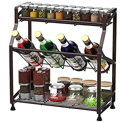 Spice Rack, GSlife 3-Tier Spice Rack for Counte...