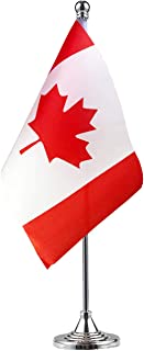 GentleGirl Canada Flag Canadian Flag Table Flag,Desk Flag,Office Flag,International World Country Flags Banners,Festival Events Celebration,Office Decoration,Desk,Home Decoration