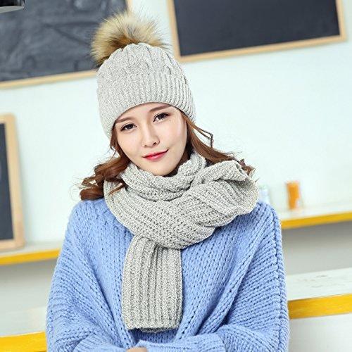 OME&QIUMEI Foulard Chapeau Chaud Tricot Couleur Conviennent Toutes épaissie-Match Hat