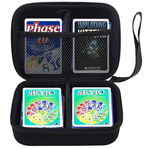 COMECASE Hard Case Tragetasche Hülle für SKYJO unterhaltsame Kartenspiel. Passend für bis zu 360 Karten. Enthält 2 Herausnehmbare Trennwände und Handschlaufe