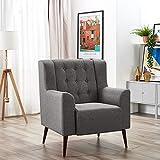 Panana Modern Linen Fabric Tub Chair Armchair Dining Living Room Lounge Office Grey Sofa Armchair (Model 28)