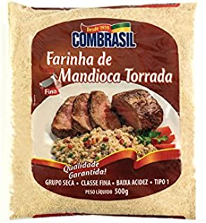 Maniokmehl geröstet, Beutel 500g. --- Farinha de Mandioca Torrada COMBRASIL