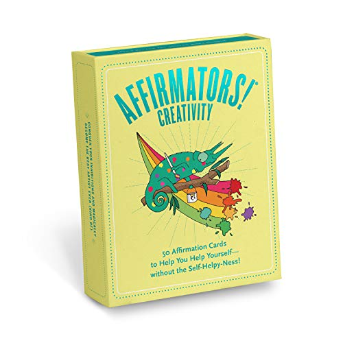 Knock Knock Affirmators! Creativity Deck: 50 Affirmation Cards to Help You Help Yourself - Without the Self-Helpy-Ness!