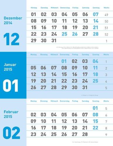 times&more 3-Monatsplaner neutral 2015