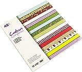 Crafters Companion CC-PAD12-POPC Crafter's Companion - Bloc de papel de 30,5 x 30,5 cm, diseño de Navidad, varios, Talla única