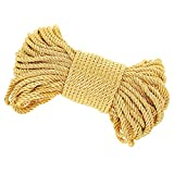 PH PandaHall Golden Twisted Cord Trim, 27 Yards 6mm Twisted Rope Trim Thread for DIY, Crafts, School Projects, Home Decors, Curtain Tieback, Honor Cord, Upholstery