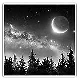 Impresionantes pegatinas cuadradas (juego de 2) 10 cm BW – Vía Láctea Sistema Solar Divertido Calcomanías para portátiles, tabletas, equipaje, reserva de chatarras, frigoríficos, regalo fresco #37683