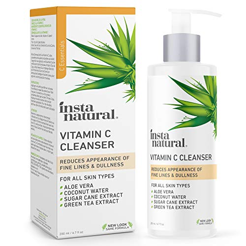 InstaNatural Facial Cleanser - Vitamin C Face Wash - Breakout & Blemish, Wrinkle Reducing,...