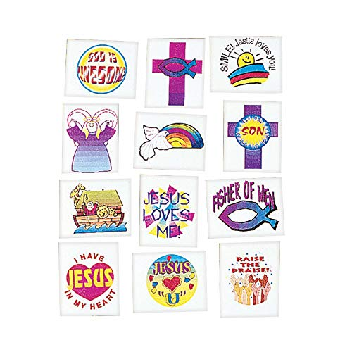 Religious Tattoos (72 Pack) - Novelty Jewelry & Tattoos & Body Art