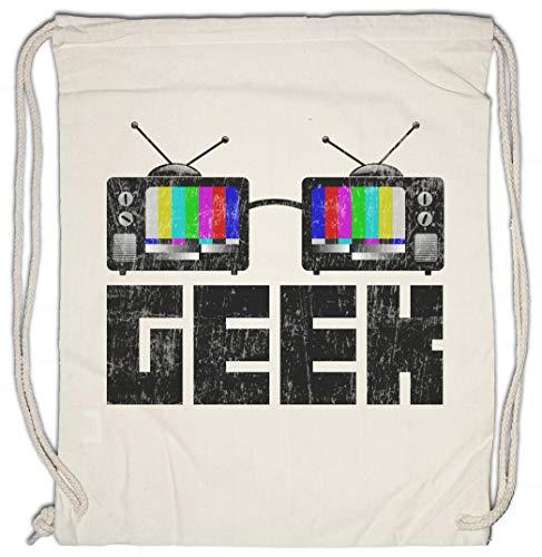 Urban Backwoods Geek TV Glasses Bolsa de Cuerdas con Cordón Gimnasio