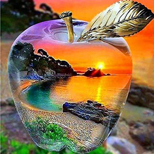 Xiuinserty 5d Diamant Malerei Voll Groß Stickerei Wanddeko Landschaft Blume Diy, 5d Voller Bohrer Diamant Malerei Stickerei Kreuzstich Kit