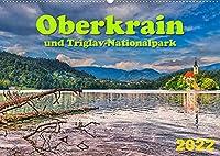 Oberkrain und Triglav-Nationalpark (Wandkalender 2022 DIN A2 quer): Das alpine Gesicht Sloweniens (Monatskalender, 14 Seiten )