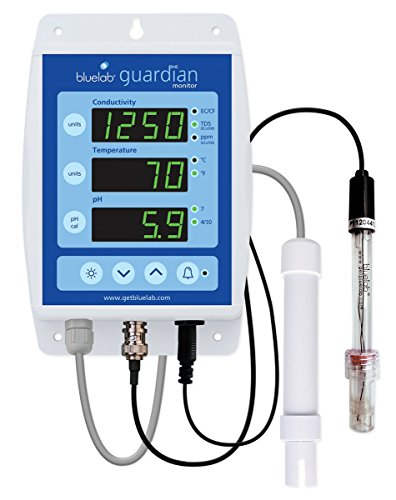 Bluelab MONGUA Guardian Monitor for pH, Temperature, and Conductivity Measures, Easy Calibration and Wall Mounted