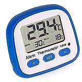 Noblik C608 Innen- und Au?Enthermometer Digital KüHlschrank Gefrierschrank Thermometer Hoch- und Niedertemperaturalarm KüChenbedarf