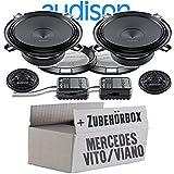 Audison APK-130-13cm Lautsprecher System - Einbauset für Mercedes Vito Viano W639 Front Heck - JUST SOUND best choice for caraudio