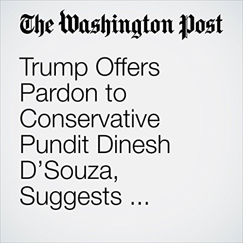 Trump Offers Pardon to Conservative Pundit Dinesh D'Souza, Suggests Others Could Be Coming copertina