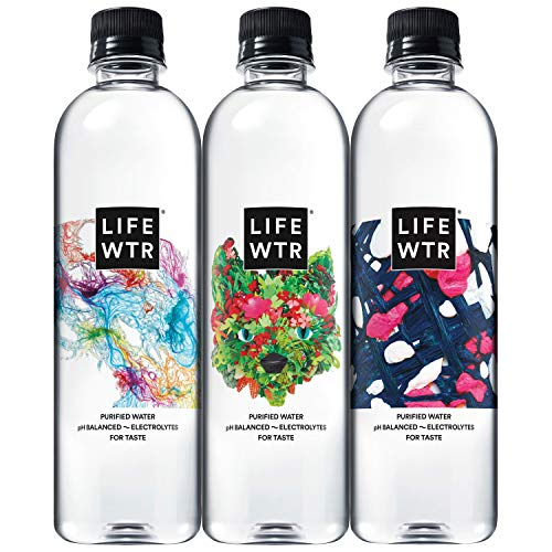 LIFEWTR Premium Purified Water, 16.9 Fl Oz (Pack of 12)